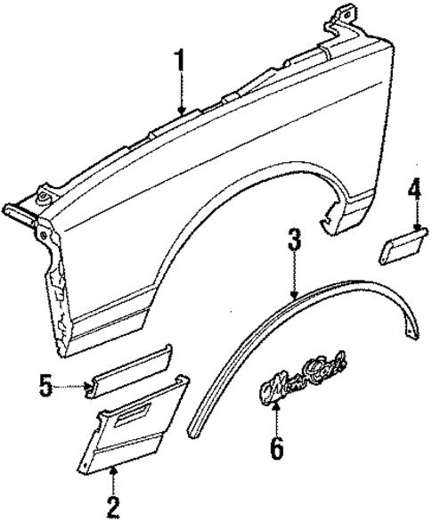 Chevrolet Camaro Fender