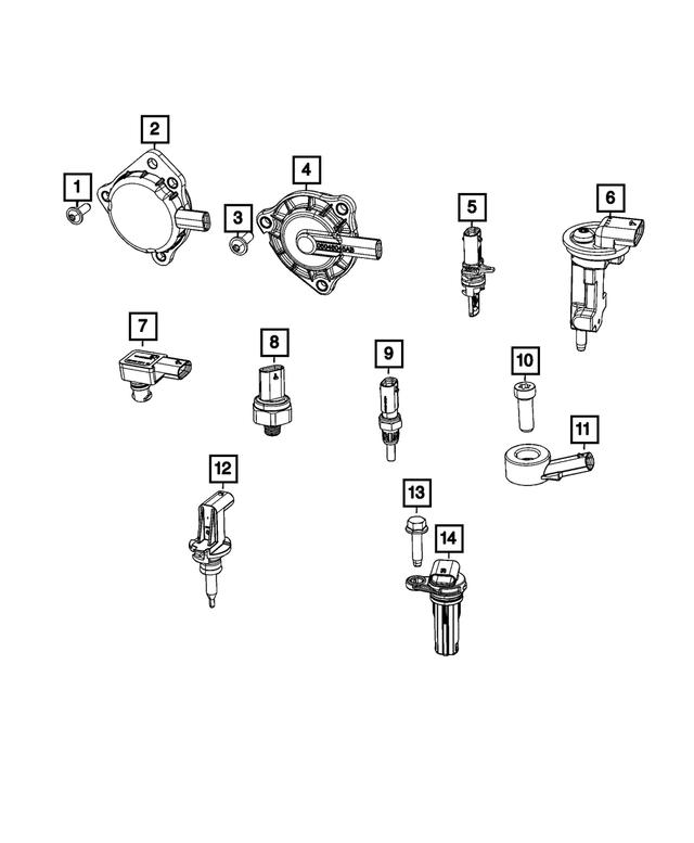 Engine Crankshaft Position Sensor Mopar 68079375AD