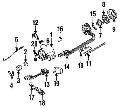 Steering Column Hardware Scat