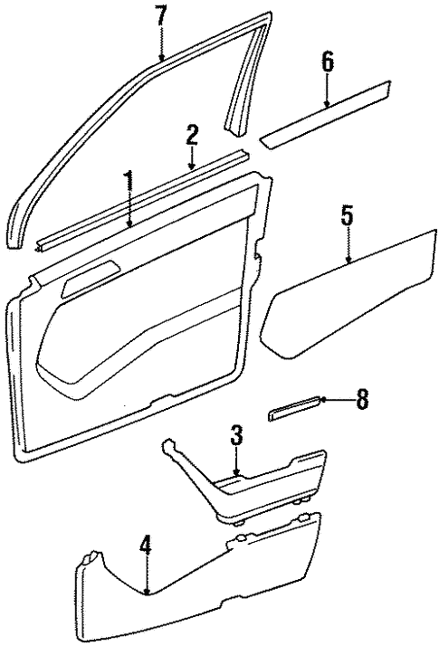 Interior Trim - Front Door for 1994 Mercedes-Benz E 320 #0
