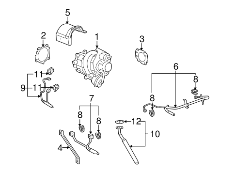 Turbocharger & Components for 2008 Pontiac Solstice ...