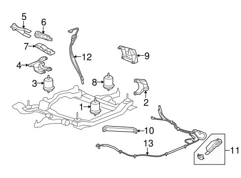 oem 2010 buick enclave engine & trans mounting parts ... 2011 buick enclave engine diagram 2008 buick enclave engine diagram