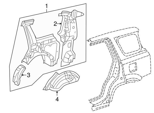 1998 2001 Honda Cr V 5 Door Extension L Rear Wheel Arch 64721 S10
