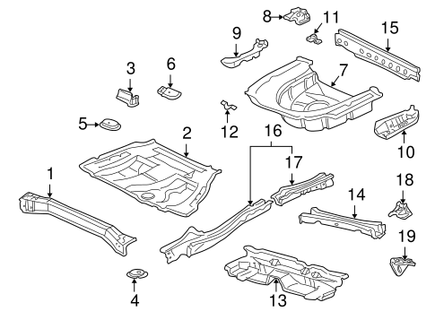 BODY/REAR FLOOR & RAILS for 1998 Toyota Camry #1