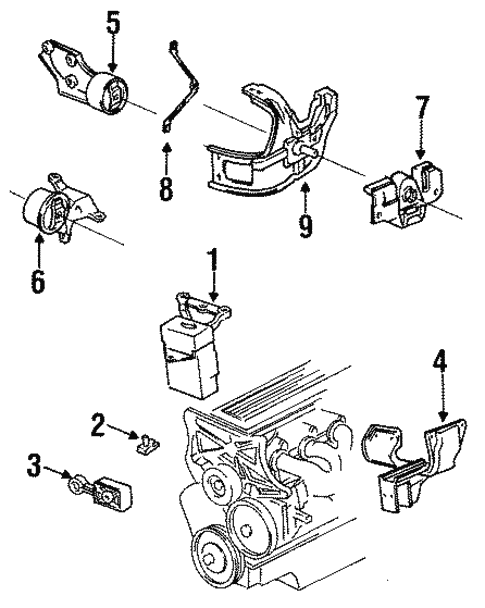 Chevy 3 1 Engine Parts Diagram