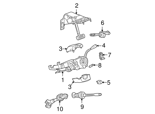 2005 Dodge Dakota Tilt Steering Column Diagram