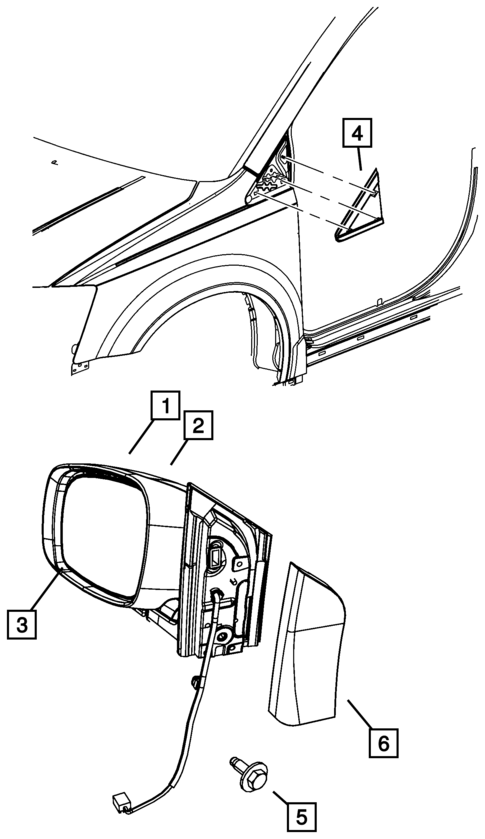 2008 Corvette Side Mirror