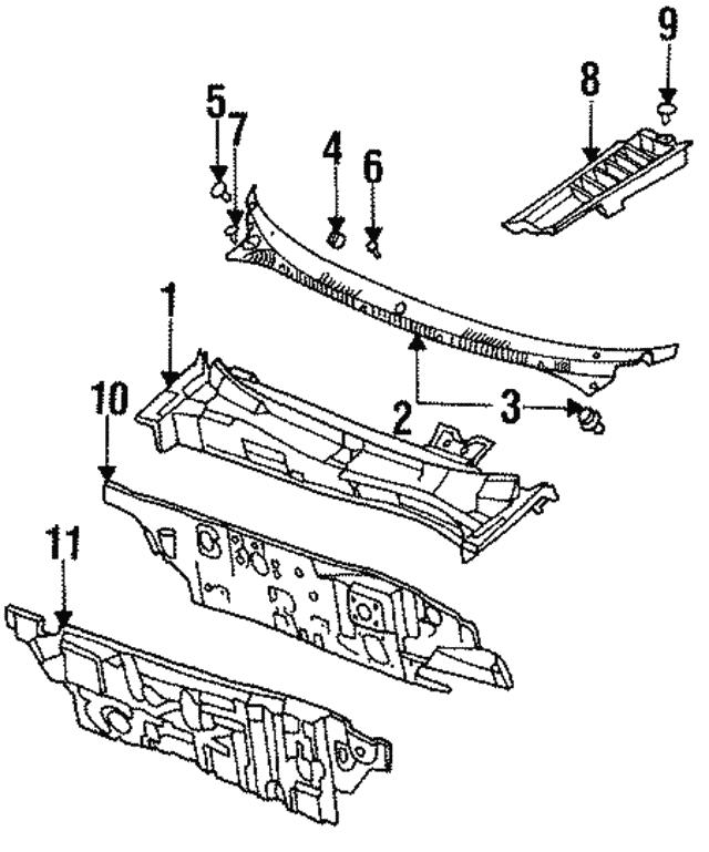 Filler Molding Clip