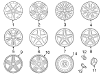 Wheel, Alloy - Mercedes-Benz (166-401-19-02-7X25)