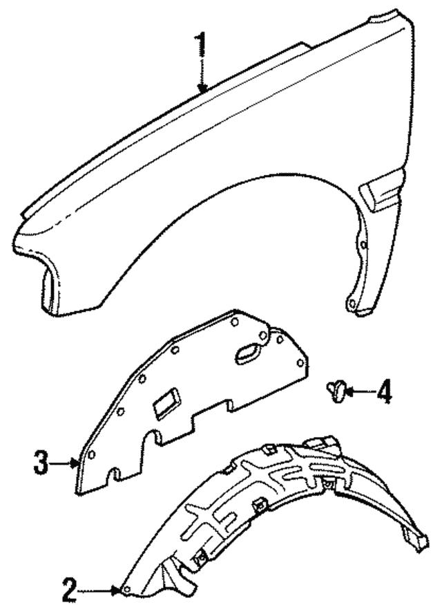 1992 2002 Isuzu Splash Shield 8972338710