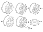 Wheel, Alloy - GM (23437171)