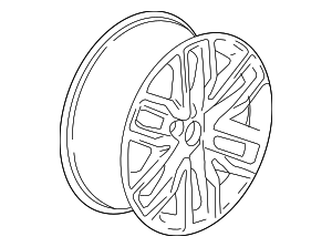 Wheel, Alloy - GM (22996314)