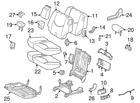 TOYOTA 79957-42020-B0 Seat Bracket Cover