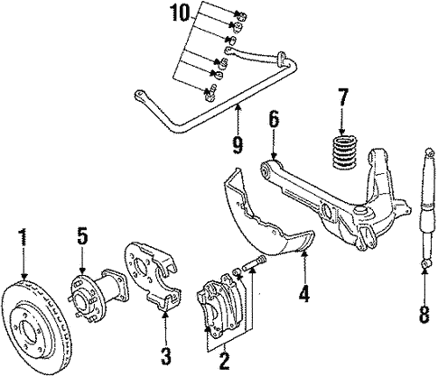 Oem 1985 Cadillac Eldorado Rear Suspension Parts