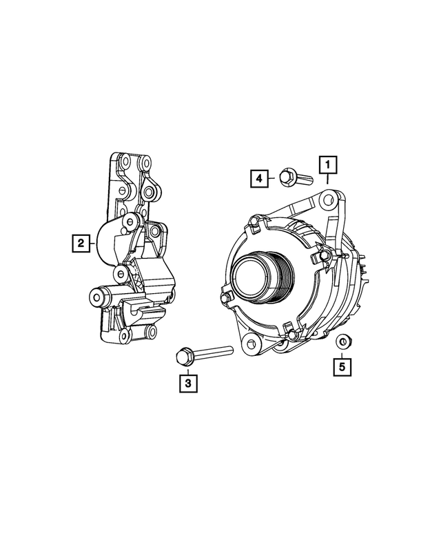 Alternator - Mopar (4801490AD)