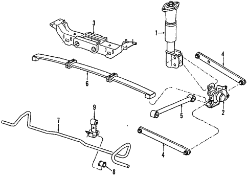 Rear Suspension For 1991 Chevrolet Lumina Z34