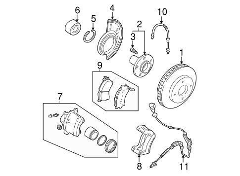 Genuine Oem Brake Components Parts For 2003 Mazda Tribute Lx