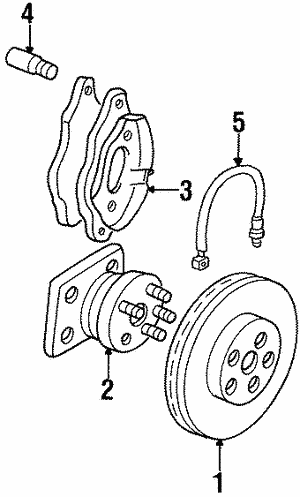 Disc Brake Rotor, Left, Right, Front
