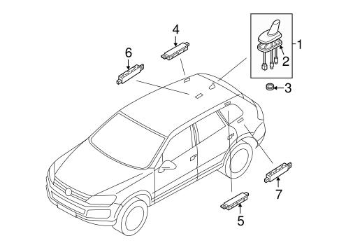 antenna assembly volkswagen 3c0 035 507 ab vwpartscente. Black Bedroom Furniture Sets. Home Design Ideas