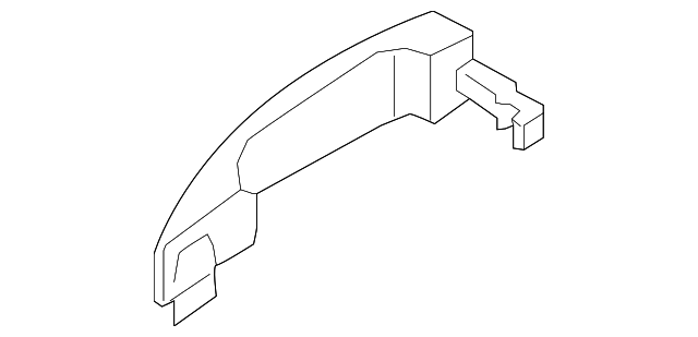 Genuine Ford Handle Outside BK2Z-6126604-A