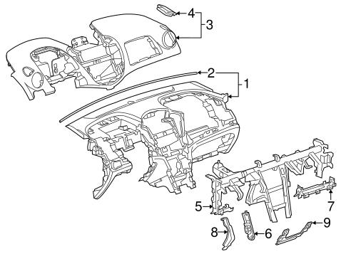 Oem 2015 Chevrolet Trax Instrument Panel Parts