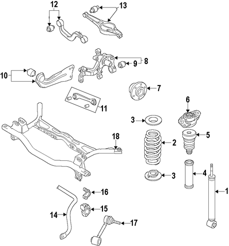 rear suspension for 2011 volkswagen jetta