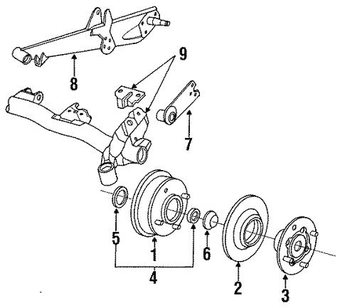 Rear Suspension For 1992 Subaru Loyale