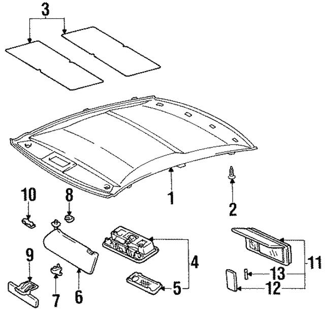 Headliner Clip Lexus 904670502001: 1997 Lexus Sc300 Engine Diagram At Hrqsolutions.co