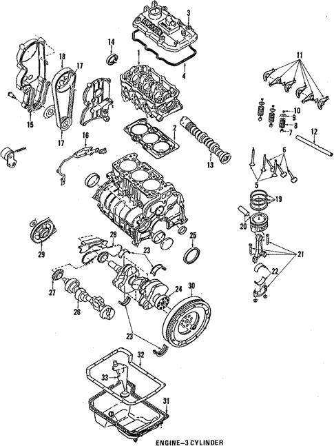 Engine for 1988 Subaru Justy #1