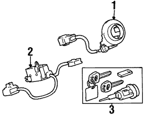 Genuine Oem Alarm System Parts For 1999 Toyota Avalon Xls