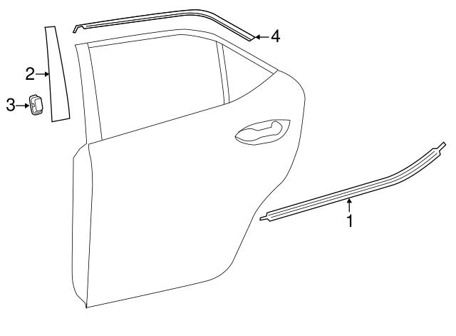 Toyota Frame Molding 75761-02030   ElmhurstToyotaParts