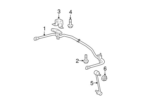 Stabilizer Bar & Components for 2005 Toyota Highlander #0
