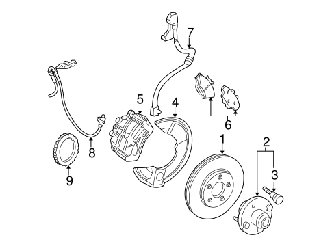 Brakes/Brake Components for 2001 Ford Taurus #1