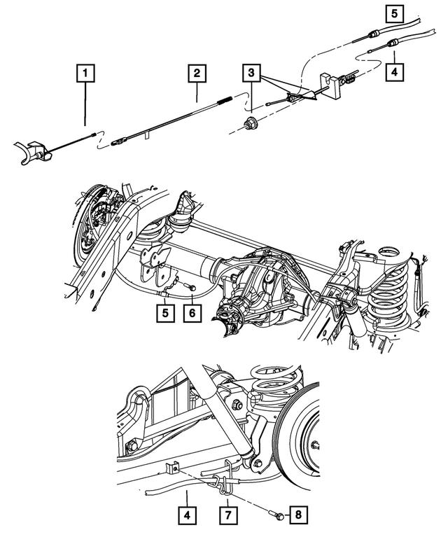 Genuine Chrysler 55398321AE Parking Brake Cable Guide