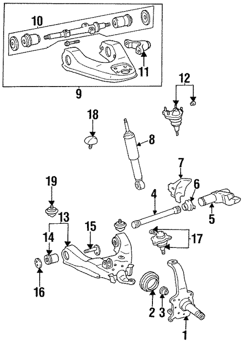Suspension Components For 1996 Toyota T100