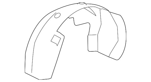 22779790 Fender Liner Fits 2007-2013 Chevrolet Silverado 1500 Front Right Side