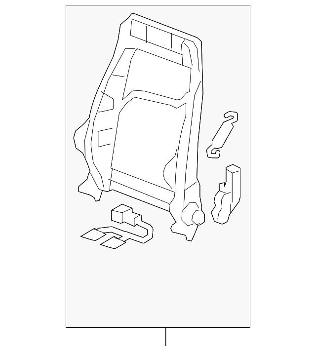 Audi Seat Back Frame (8J7-881-515-A) For Sale