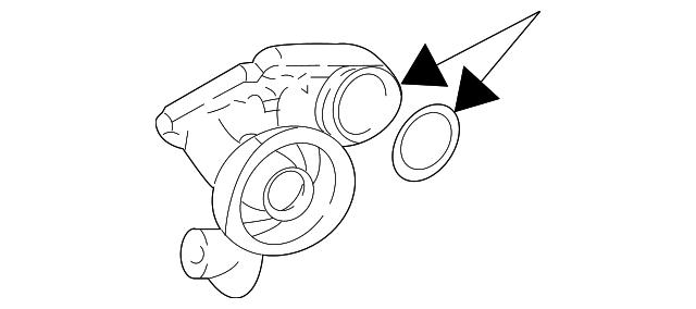 1996 2004 Ford Mustang Oil Filter Adapter Yr3z 6881 Ba