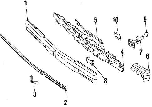 oem 1987 buick regal bumper  u0026 components