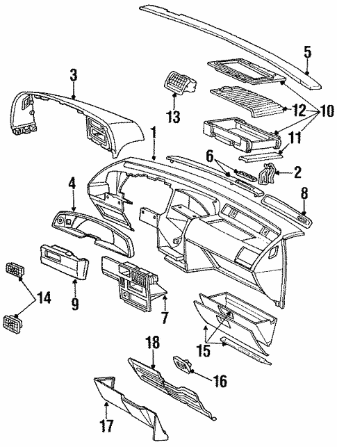 Instrument Panel For 1993 Ford Thunderbird