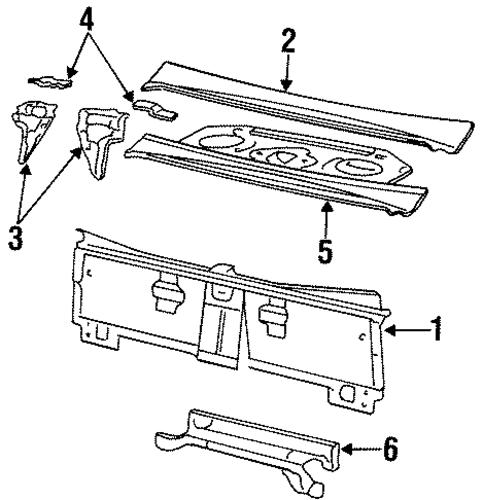 oem 1998 buick lesabre rear body parts