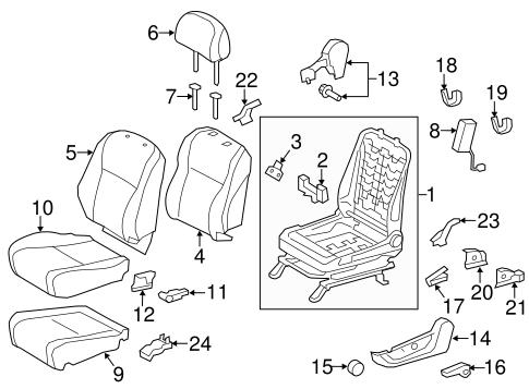 TOYOTA Genuine 71868-0E060-E0 Seat Cushion Shield