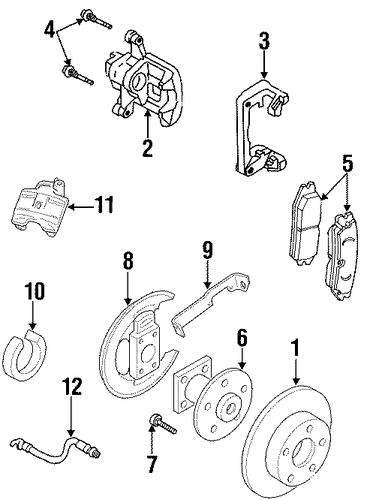 oem brake components for 2002 pontiac grand prix