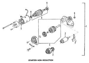 STARTER SOLENOID Mazda Miata Protege MX-6 MPV 626 B2200
