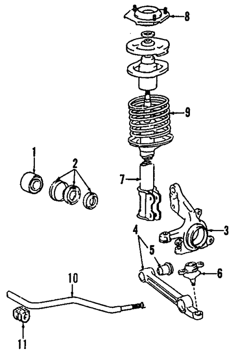 Front Suspension/Wheels for 1988 Toyota Tercel #1