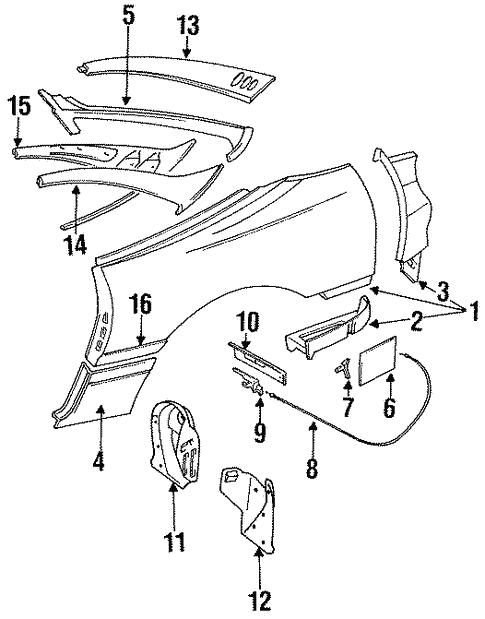 Quarter Panel For 1996 Dodge Stealth