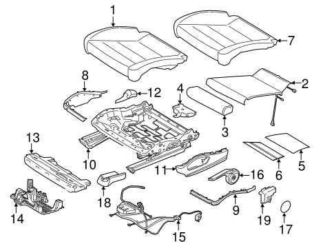 Seat Components For 2018 Porsche 718 Boxster