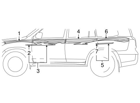Toyota 75985-60820-F0 Door Stripe