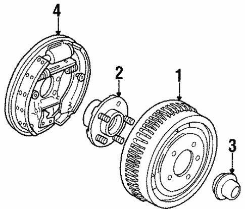 Rear Brakes For 1997 Mercury Sable