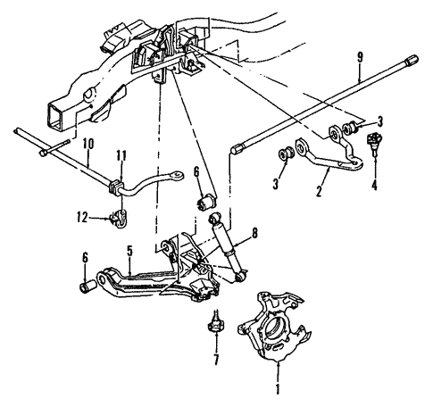 2002 Chevy Silverado Suspention Parts Diagram